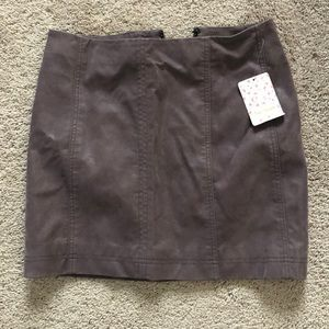 Free People Suede Skirt NWT!